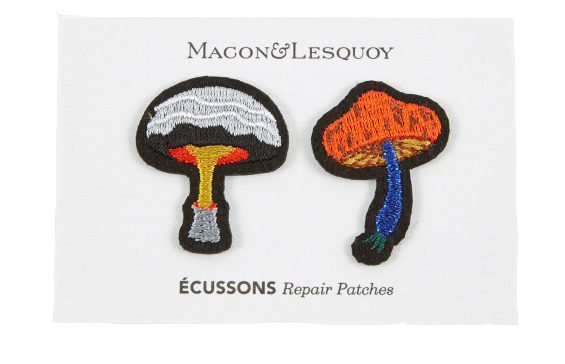 Klädvård - Macon & Lesquoy mushroom repair patches 2