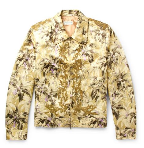 Påskpresenter - Dries Van Noten Valerian Sequinned Printed Satin Blouson Jacket
