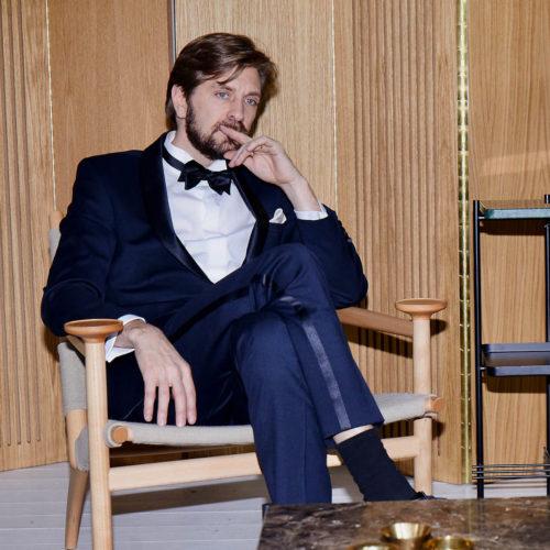 Ruben Östlund bär Velour by Nostalgi på Oscarsgalan 2018