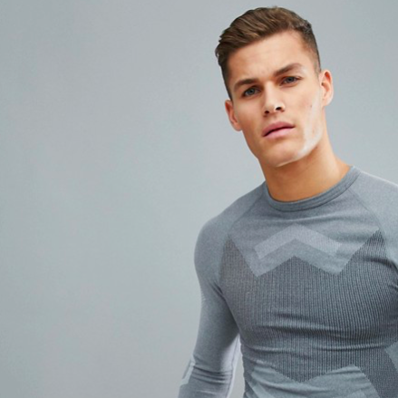 ASOS 4505 Compression long sleeve t-shirt Grey