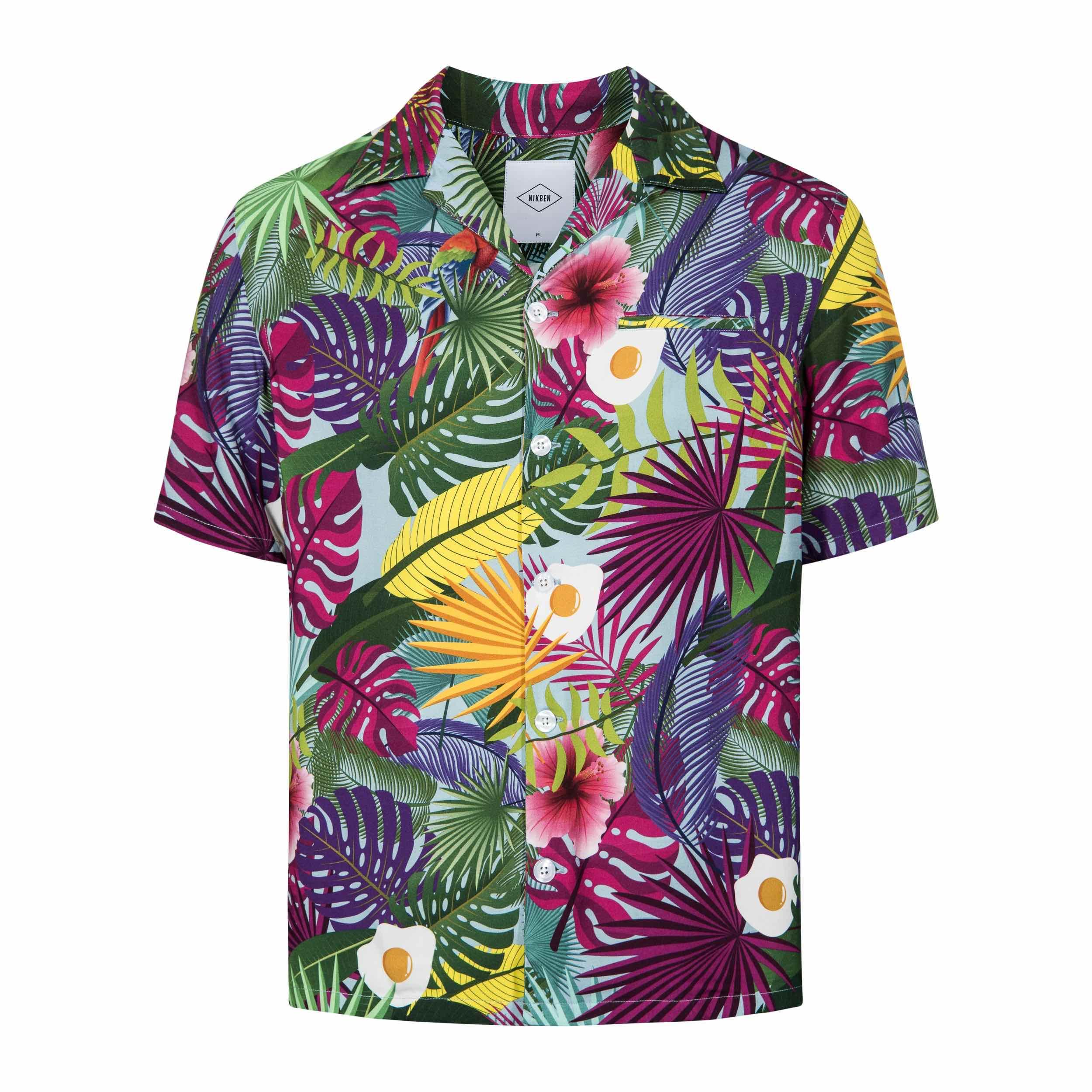 NIKBEN Resort Shirts Tropical Egg