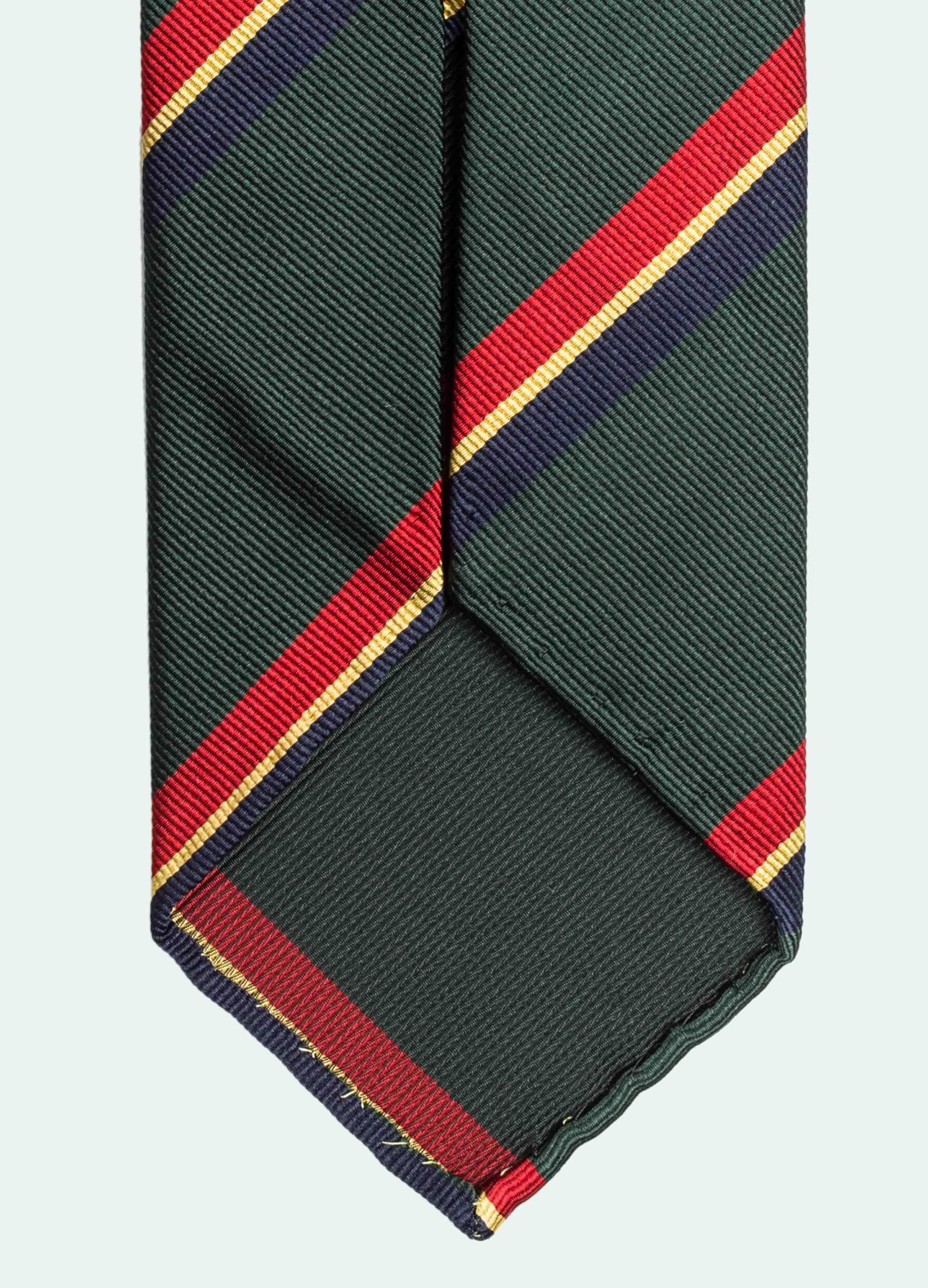 Snygga slipsar - grön röd blå gul randig slips från Berg&Berg