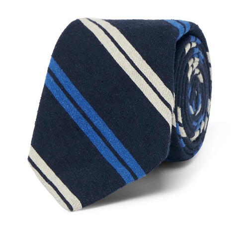 Snygga slipsar - randig blå slips i silke från Polo Ralph Lauren