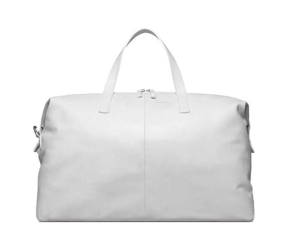 Stiltips - Sandqvist Holly Leather weekend bag vit
