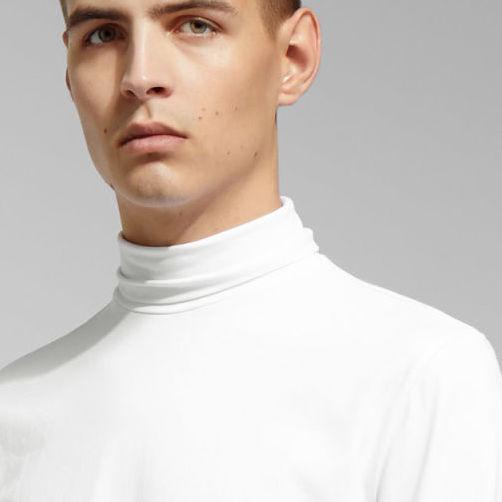 Stiltips - vit polotröja från Weekday