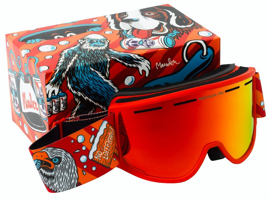 Pabst x Spektrum - Skidglasögon orangea