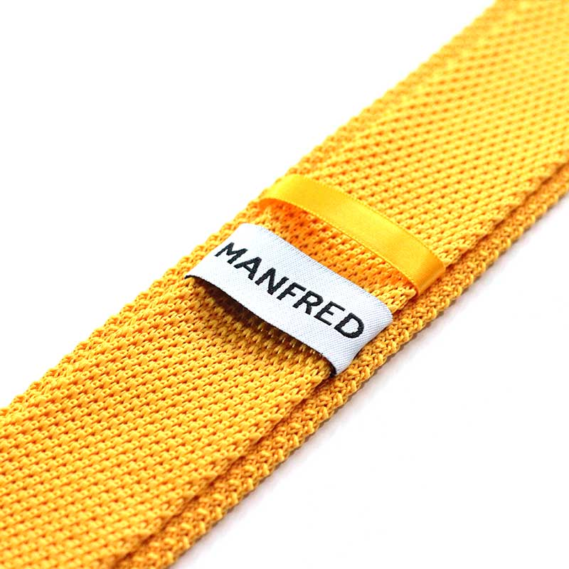 MANFRED och slipsknutar.com gul slips