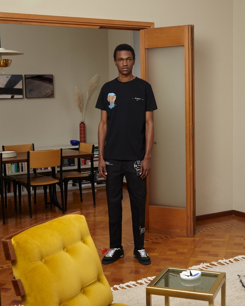 Off-White hyllar Jean-Michel Basquiat full look