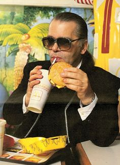 Karl Lagerfeld at McDonald's