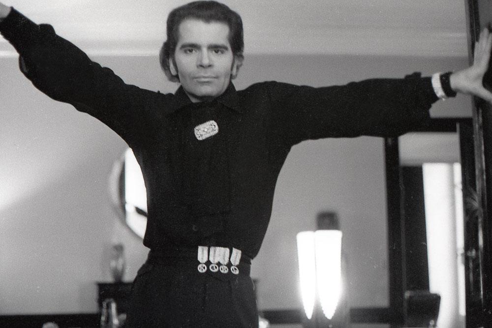 Karl Lagerfeld fotograferad av Antonio Lopez