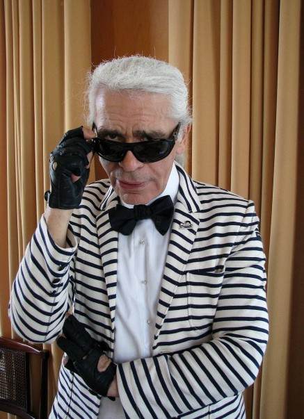Karl Lagerfeld in stripes