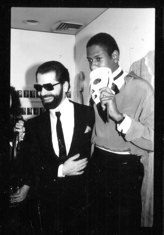 Karl Lagerfeld och André Leon Talley