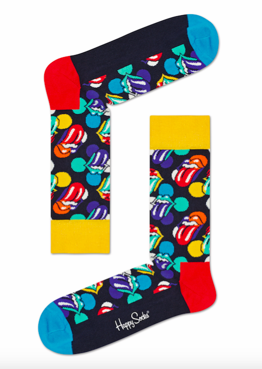 Happy Socks x The Rolling Stones gul