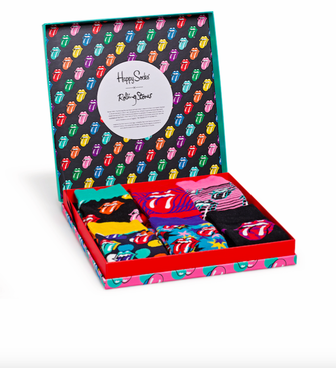 Happy Socks x The Rolling Stones presentbox öppen