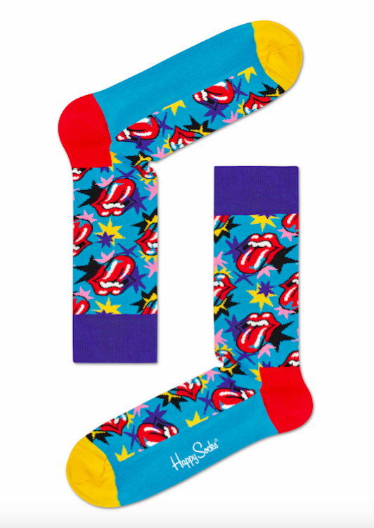 Happy Socks x The Rolling Stones strumpor turkos