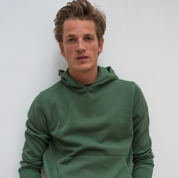 Tricot green organic hoodie
