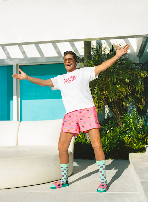 Happy Socks x David Hasselhoff swim shorts
