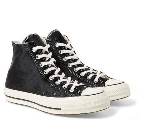 Badbyxor - 1970s Converse Chuck Taylor All Star Calf Hair High-Top Sneakers