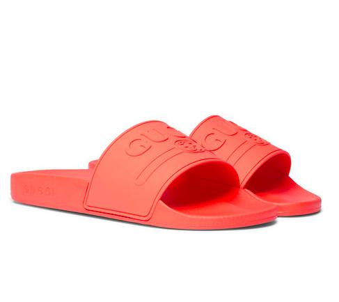Badbyxor - Röda badtofflor från Gucci