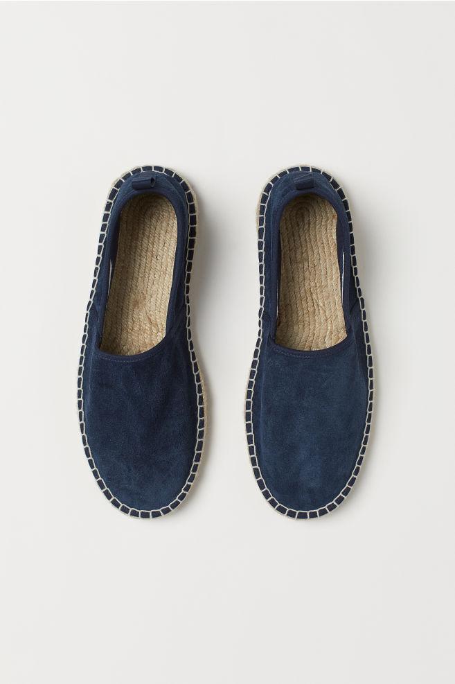Espadrillos i blå mocka från H&M Man