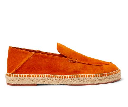 Espadrillos i orange från Loro Piana