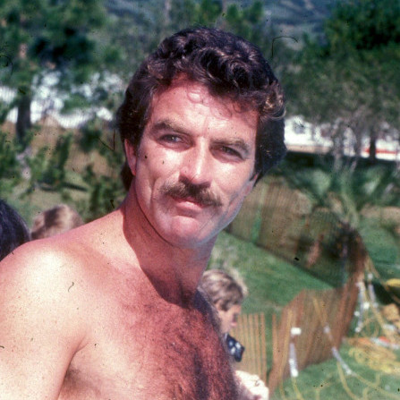 Sommarfräsch - Tom Selleck vid pool