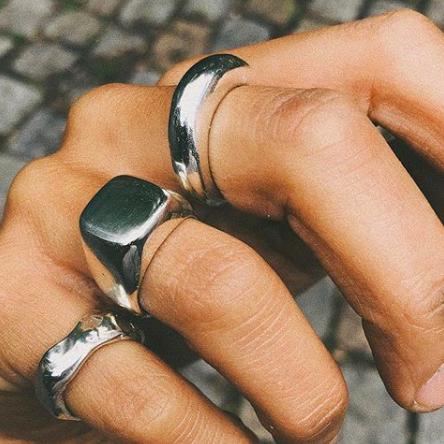 Wretlund Studio - klackring och ringar i silver square