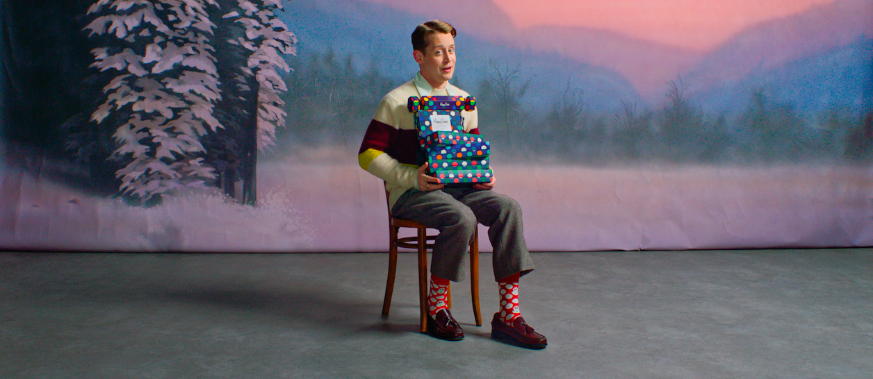 Happy Socks Naughty or Nice med Macaulay Culkin