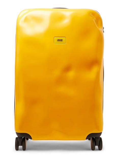 Julklapp Crash Baggage gul resväska på hjul