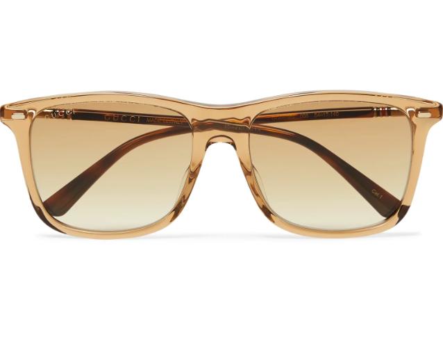 Julklapp Guldtonade solglasögon från Gucci