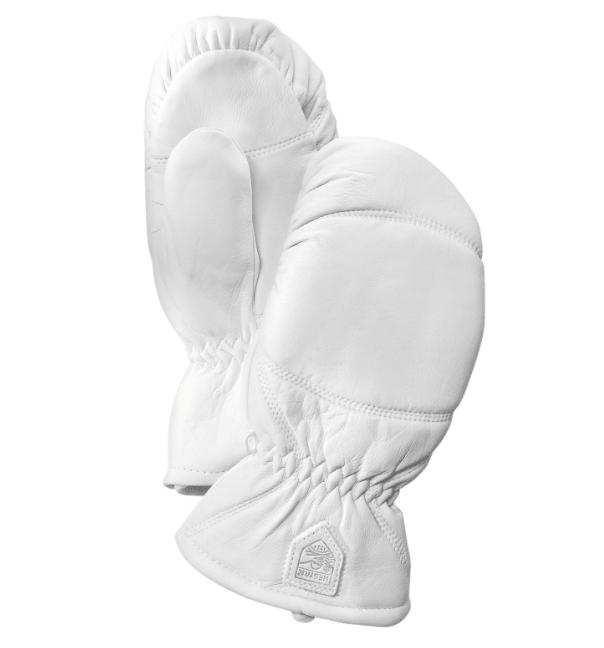 vita läderhandskar