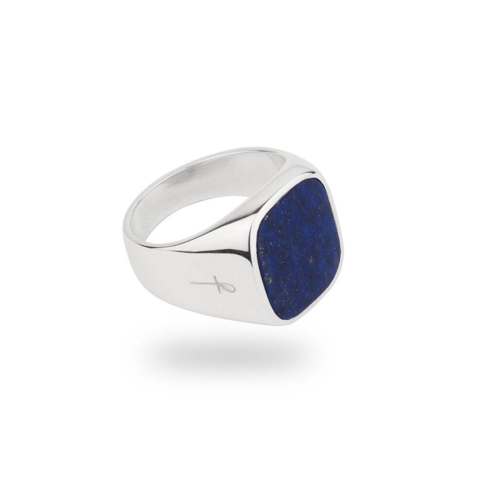 Klackring med blå sten