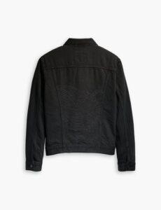 Levis' Wellthread svart jeansjacka med brodyr