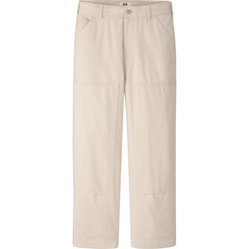 Vårmode - workwear byxa Work Straight Pants Beige från Uniqlo U SS20