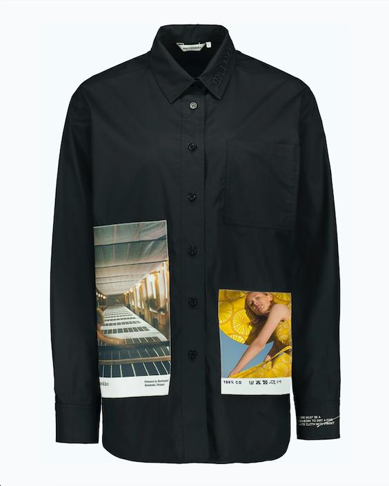 Marimekko co-created svart skjorta