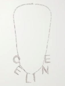 Celine Homme Silver Tone Necklace