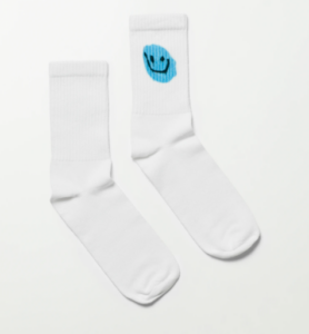 Weekday Eleven Printed Socks strumpor med smiley