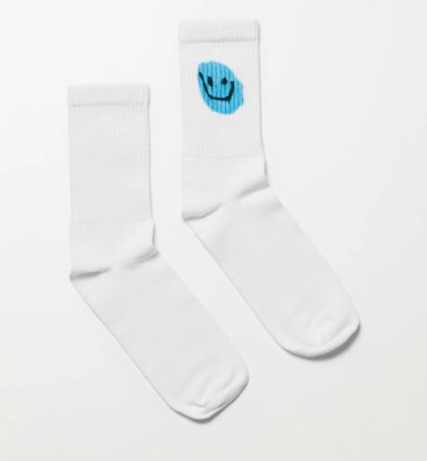 Weekday Eleven Printed Socks strumpor med smiley